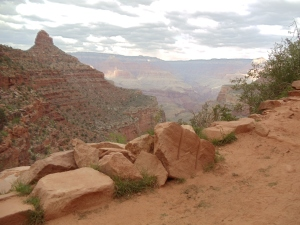 Bright Angel Trail - view on way down